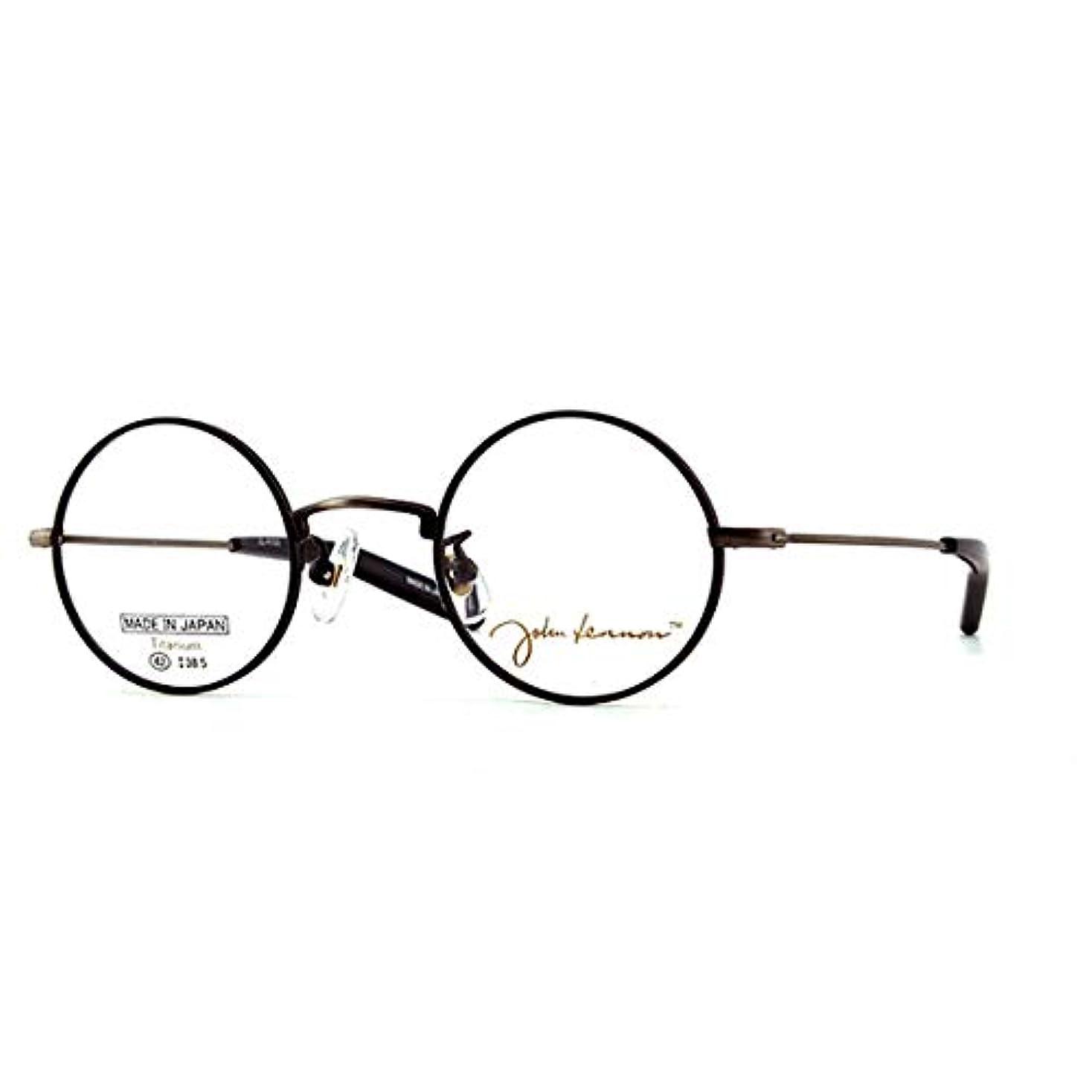 やけどにお手入れ鯖江ワークス(SABAE WORKS) 老眼鏡 ブルーカット ジョンレノン 丸眼鏡 JL-A103C4 +1.50