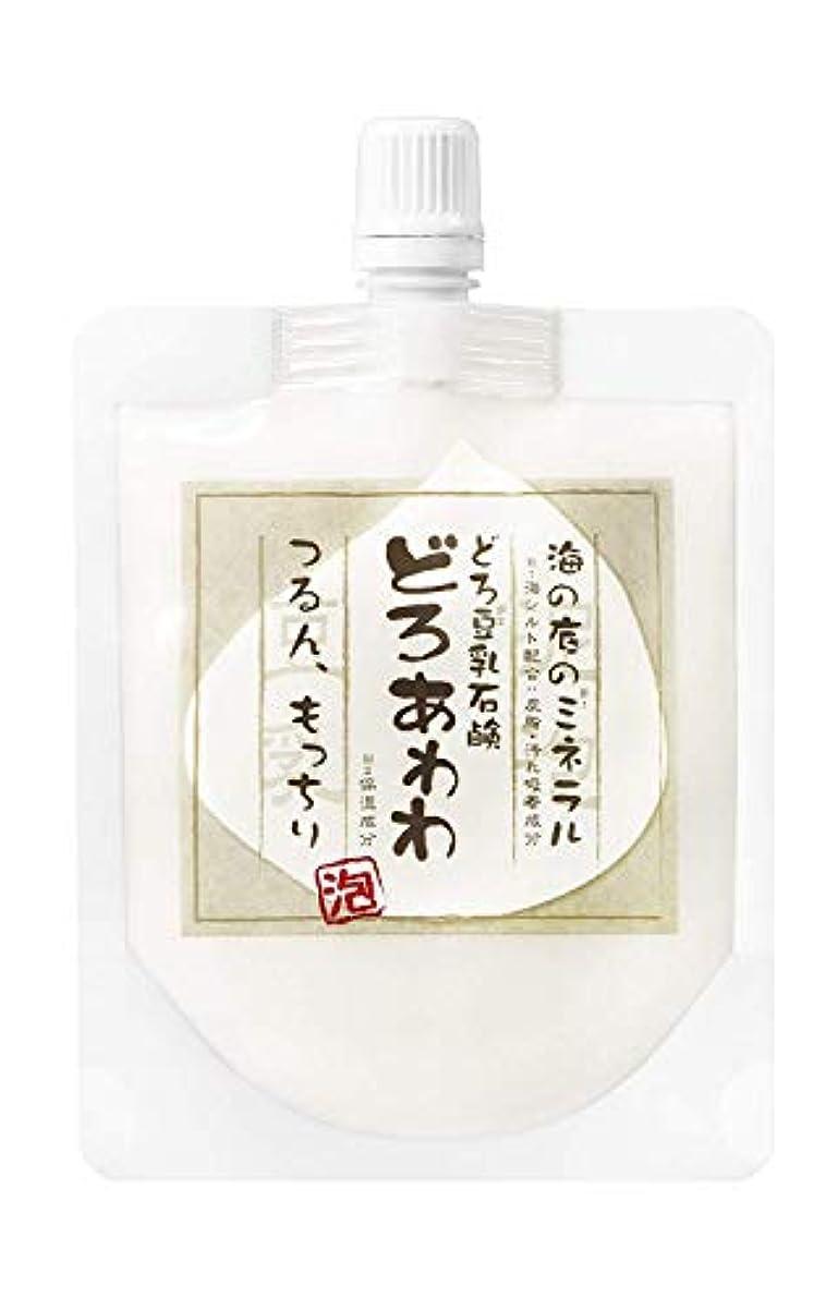 吸収ビタミン毒性【ネット付】どろ豆乳石鹸 どろあわわ 110g