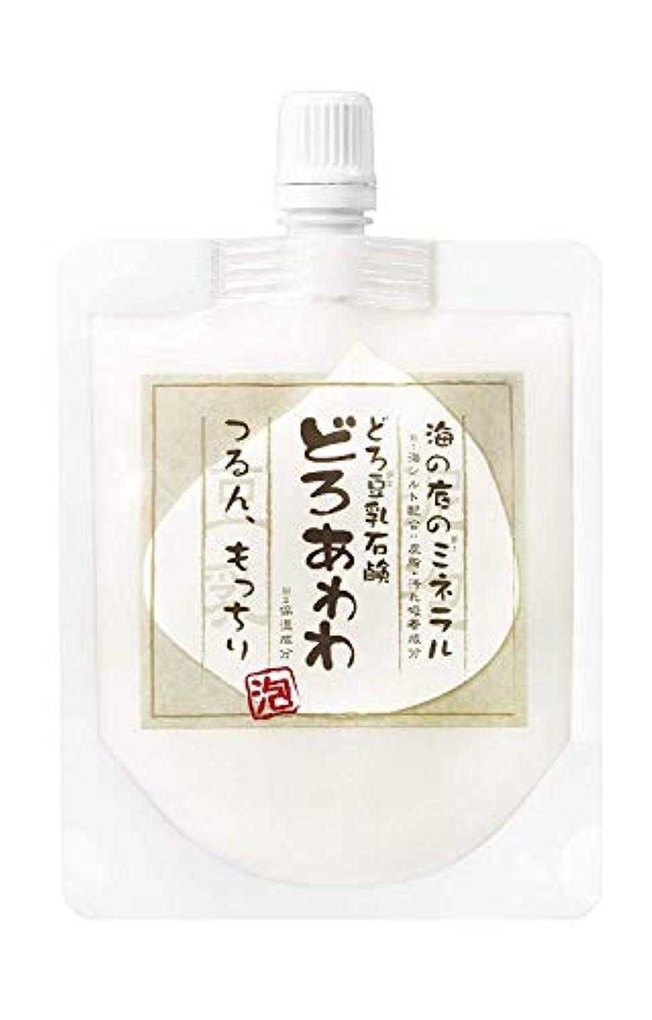 彫刻パワー満員【ネット付】どろ豆乳石鹸 どろあわわ 110g