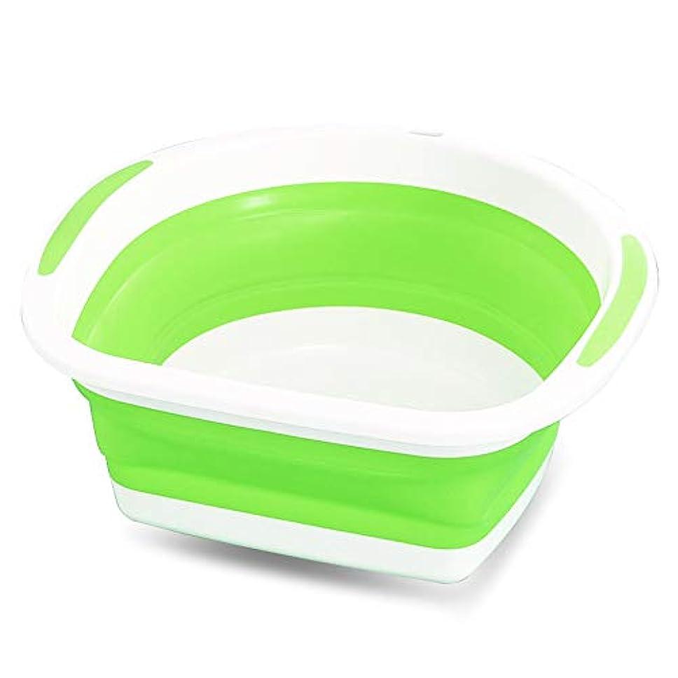 プログラムスペクトラムハイキングに行くハイキングおよび家でキャンプの皿を洗うための折り畳み式の流し、 (色 : 緑)