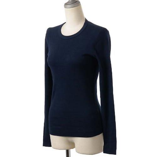 (スリードッツ)Three Dots クルーネック/長袖Tシャツ/カットソー AA2C-035W D.Ocean M [並行輸入品]