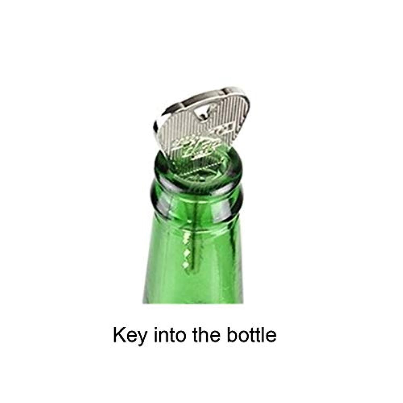 RaiFu マジックトリックおもちゃ 折りたたみキー ボトルまたはリングの貫通を介して 小道具 マジック ジョークのおもちゃ (ボトルなし)