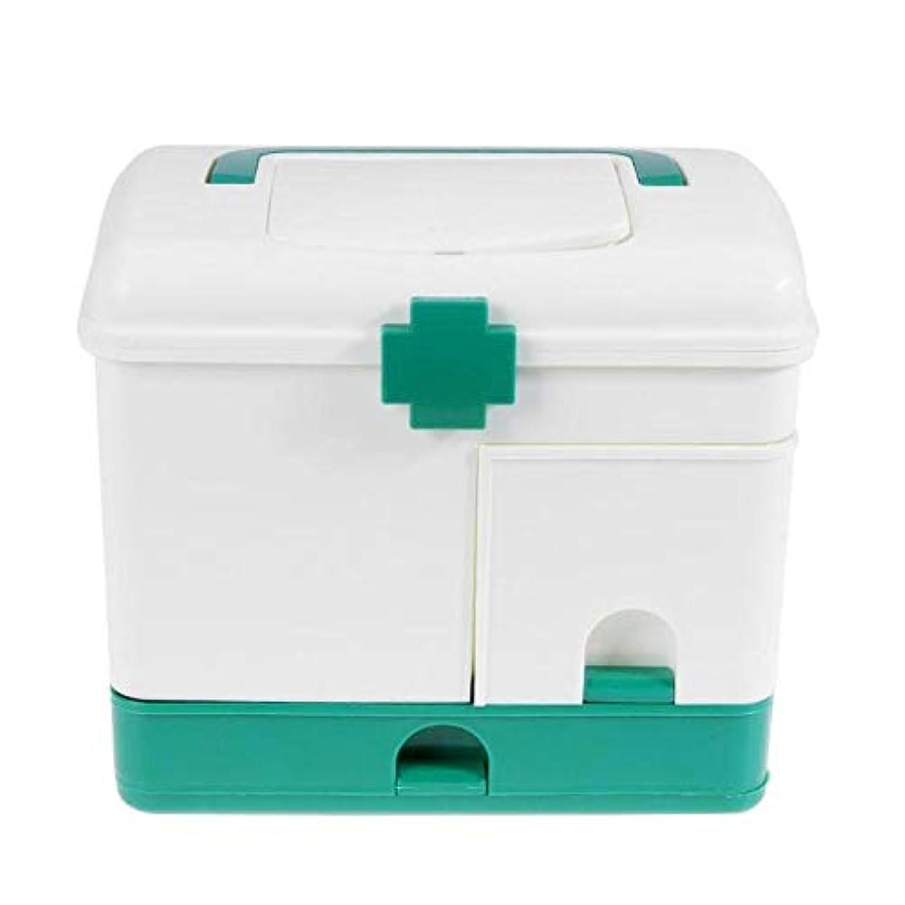 オープニング博物館リフレッシュYxsd 応急処置キット プラスチック製医療箱救急箱箱、多層緊急保管ヘルスケア、ピルホルダーケース