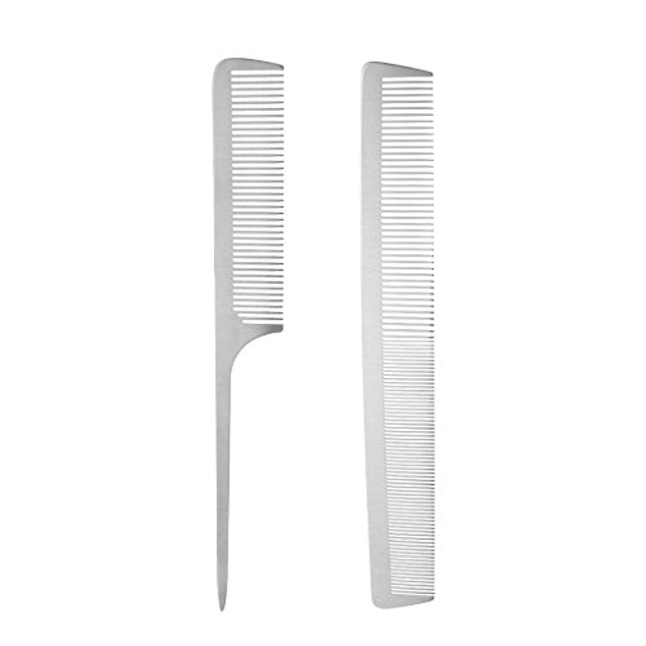 透けて見える調停する矢印2本 ヘアカットコーム サロン ヘアコンディショニング櫛 帯電防止櫛 ステンレス