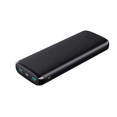 モバイルバッテリー 大容量 20000mAh AUKEY PSE認証済み スマホ充電器 Micro/Lightning入力 2ポート USB充電器 iPhone X/iPhone 8/iPhone 7 Plus/iPhone 7 / Samsung Galaxy/Huawei/Sony など対応 PB-N65