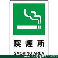 TRUSCO(トラスコ)  2ケ国語 JIS規格安全標識 喫煙所 T802-801