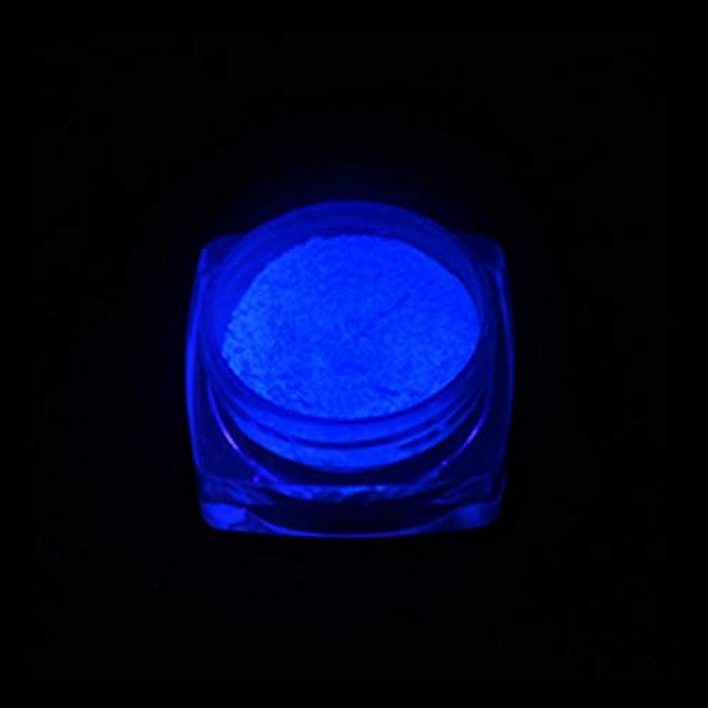 遠い理容室潤滑する手足ビューティーケア 3 PCSネオン蛍光体粉末ネイルグリッターパウダー (色 : YGF06 Dark Blue)