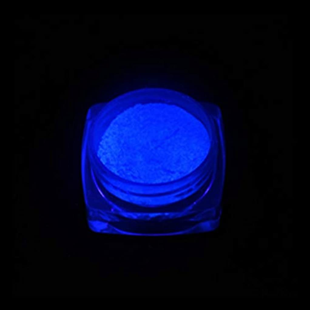 規模トロピカル夏手足ビューティーケア 3 PCSネオン蛍光体粉末ネイルグリッターパウダー (色 : YGF06 Dark Blue)