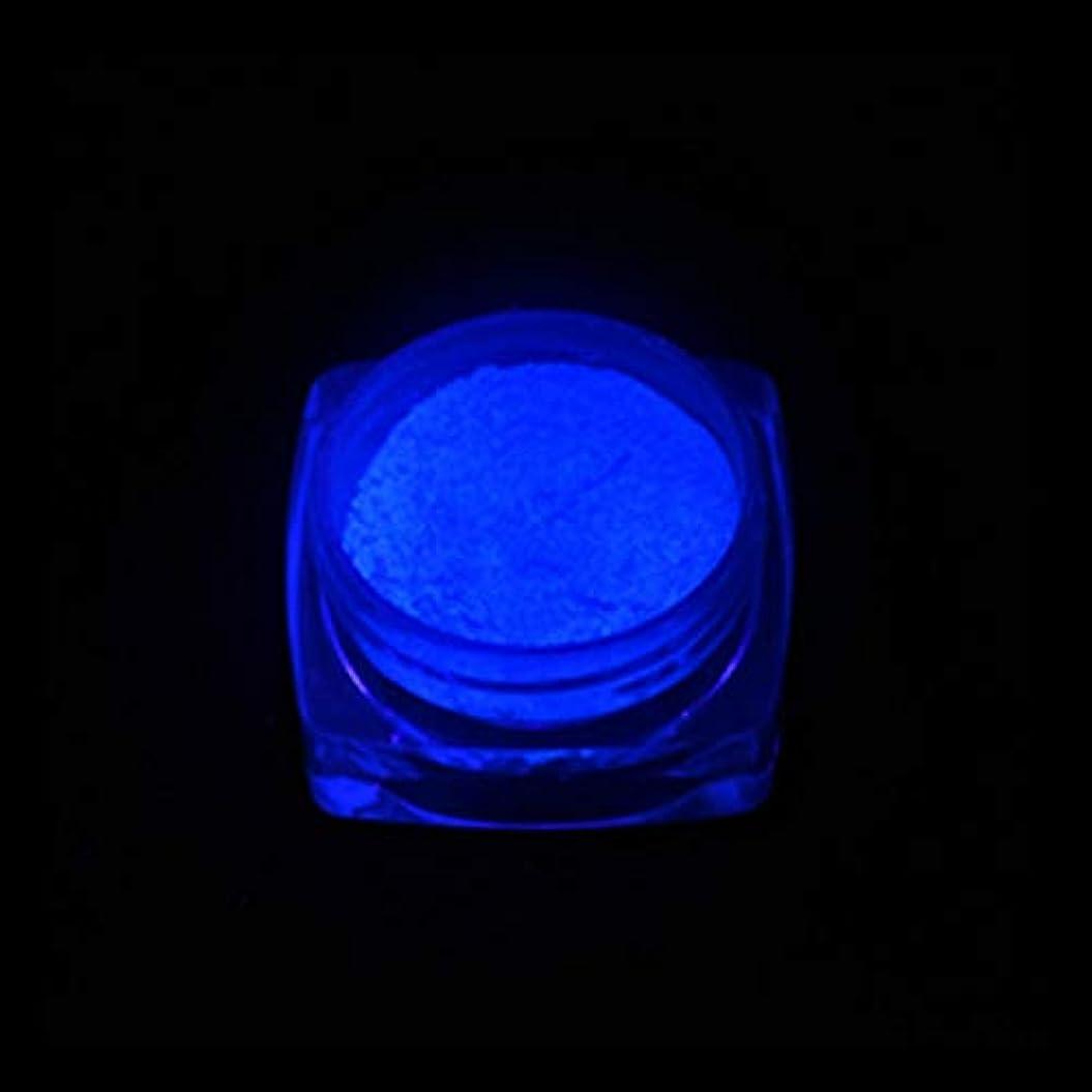 論理的頑丈ちょっと待って手足ビューティーケア 3 PCSネオン蛍光体粉末ネイルグリッターパウダー (色 : YGF06 Dark Blue)