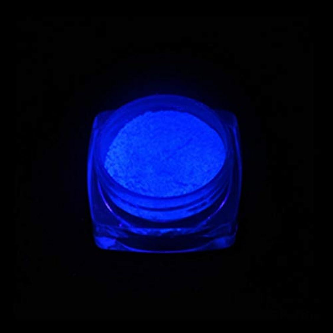 マーチャンダイジング露出度の高いブレイズ手足ビューティーケア 3 PCSネオン蛍光体粉末ネイルグリッターパウダー (色 : YGF06 Dark Blue)