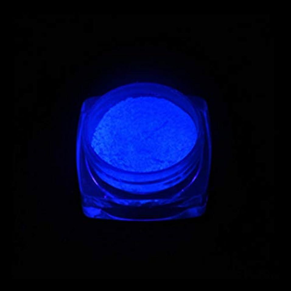 手足ビューティーケア 3 PCSネオン蛍光体粉末ネイルグリッターパウダー (色 : YGF06 Dark Blue)