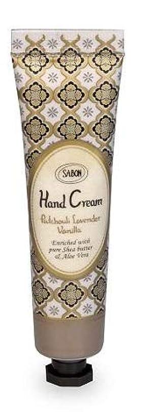 穴血ピンsabon サボン ハンドクリーム パチョリラベンダーバニラ