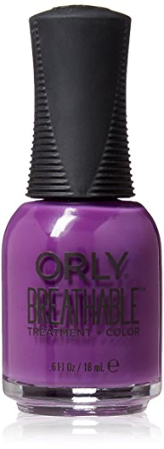 ビート妖精普通のOrly Breathable Treatment + Color Nail Lacquer - Pick-Me-Up - 0.6oz / 18ml