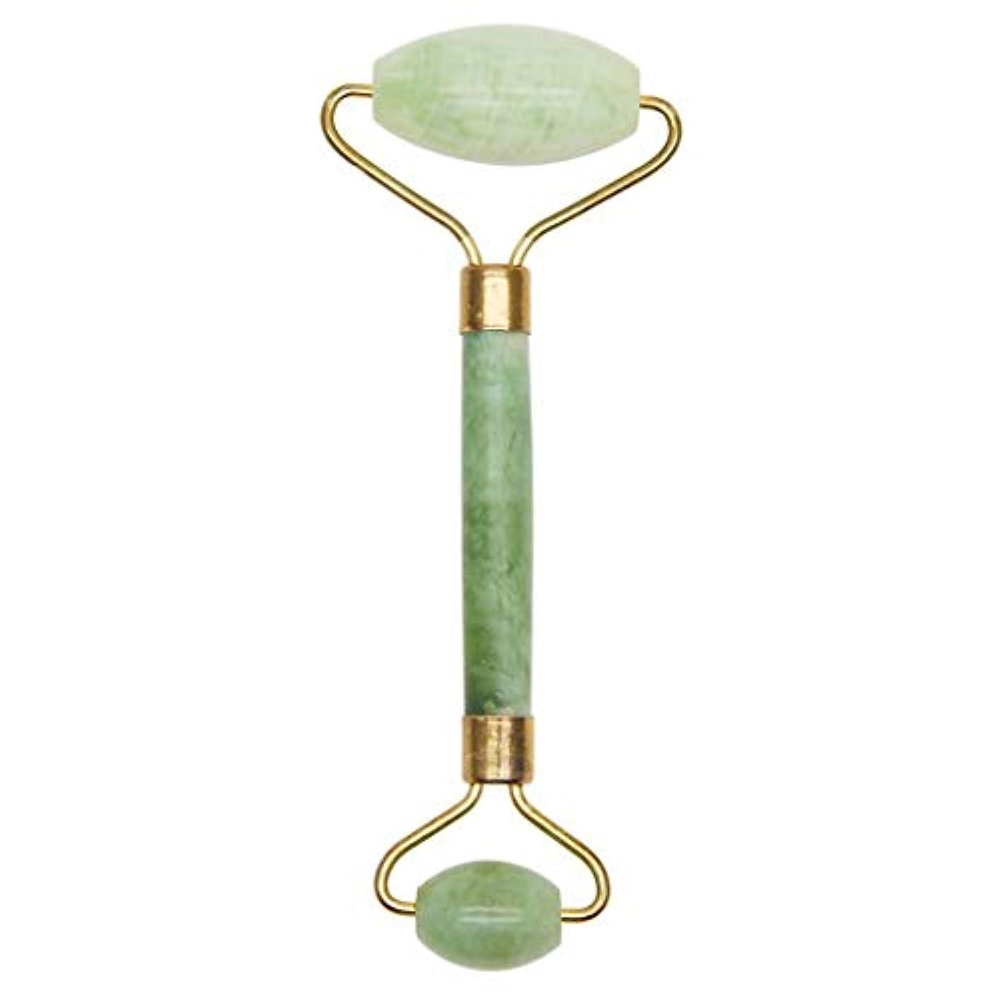 自然なXiuyushiの美棒のマッサージのヒスイのローラー押す表面および目薄い表面の美のヒスイの球のマッサージャー