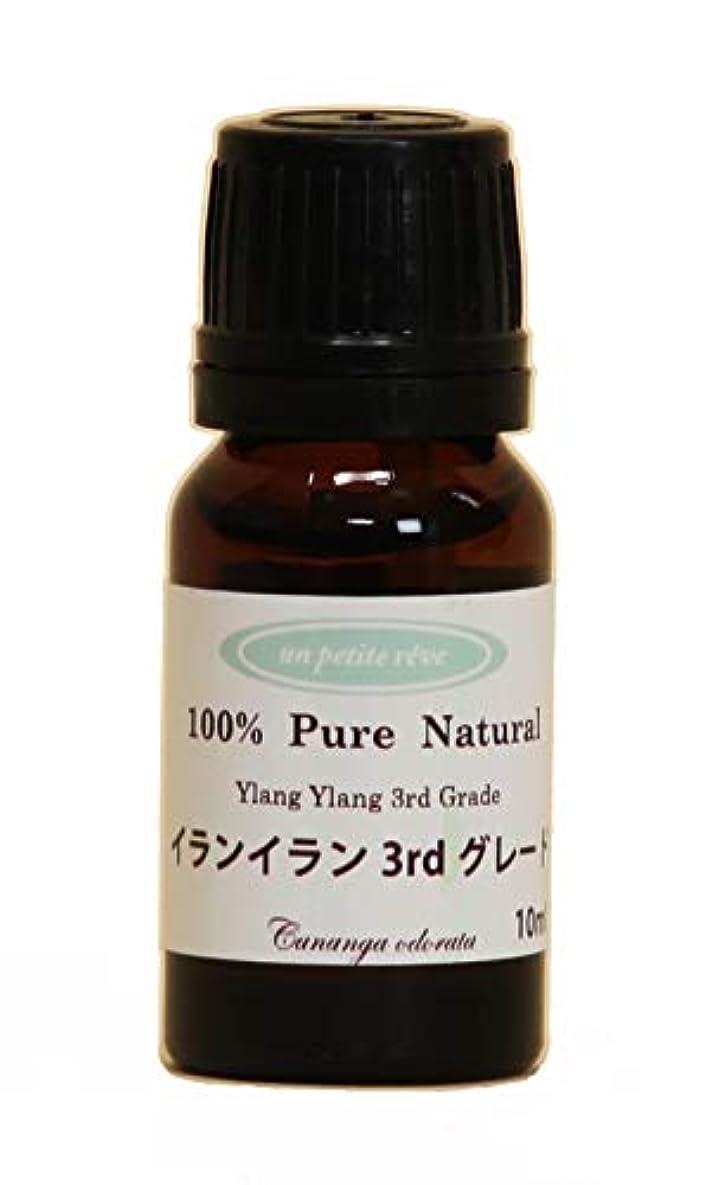 気難しい許容できるロードハウスイランイラン3rdグレード 10ml 100%天然アロマエッセンシャルオイル(精油)