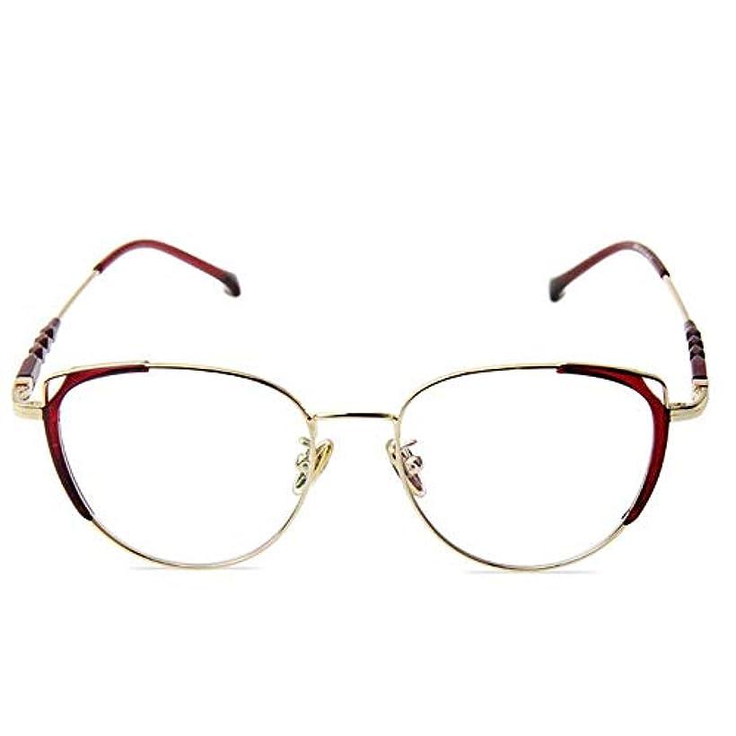YYQ メタルフレーム老眼鏡、コンピュータリーダー、男性と女性のためのスマートズームアンチブルーライトゴーグル、スタイリッシュな超軽量と二重用途に近い、視度(+2.5)