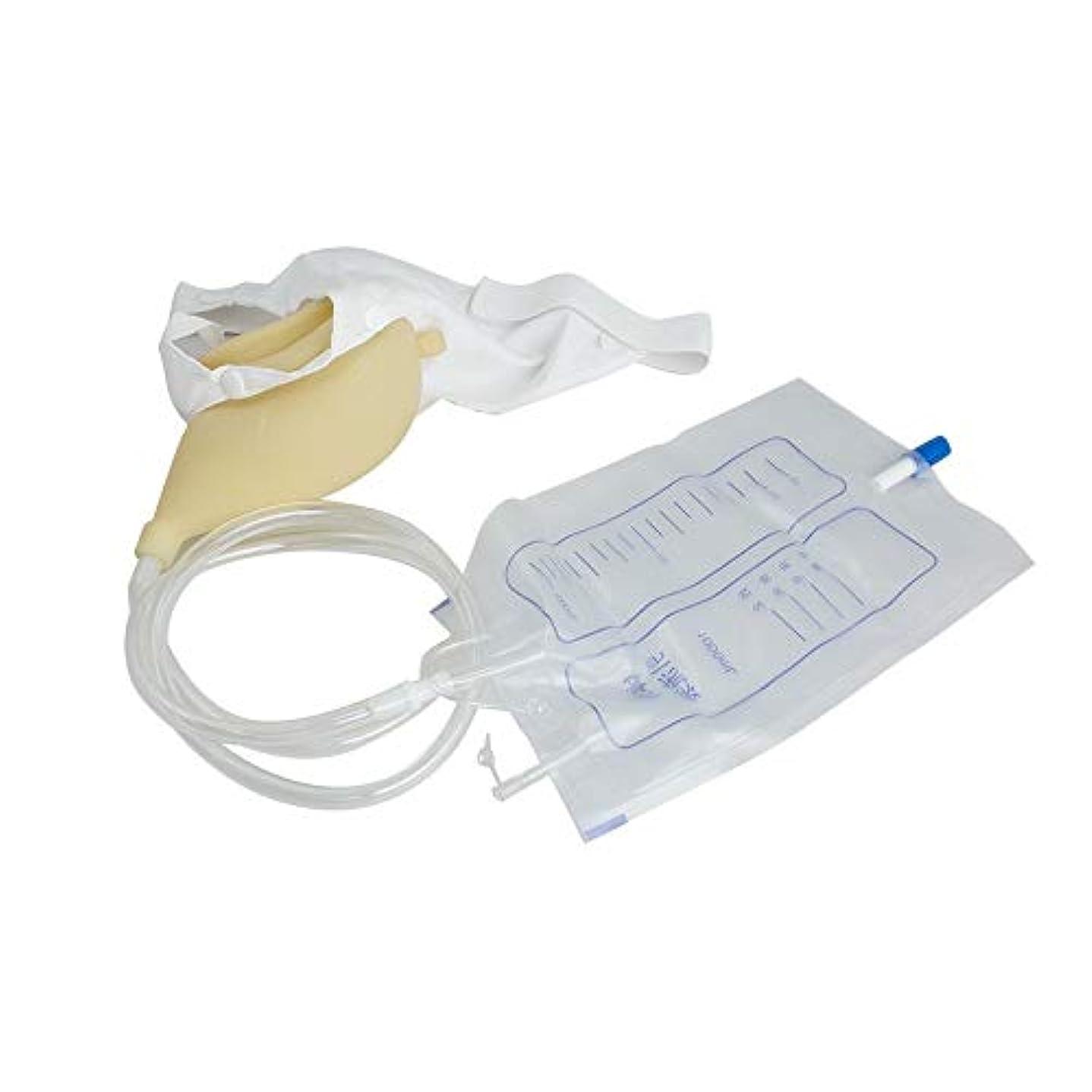 リーフレットコーチビリーヤギウェアラブル便器尿バッグコレクター、ポータブル便器、トイレ弾性ウエストバンド1000ミリリットル再利用可能なおしっこバッグ (Color : Women)