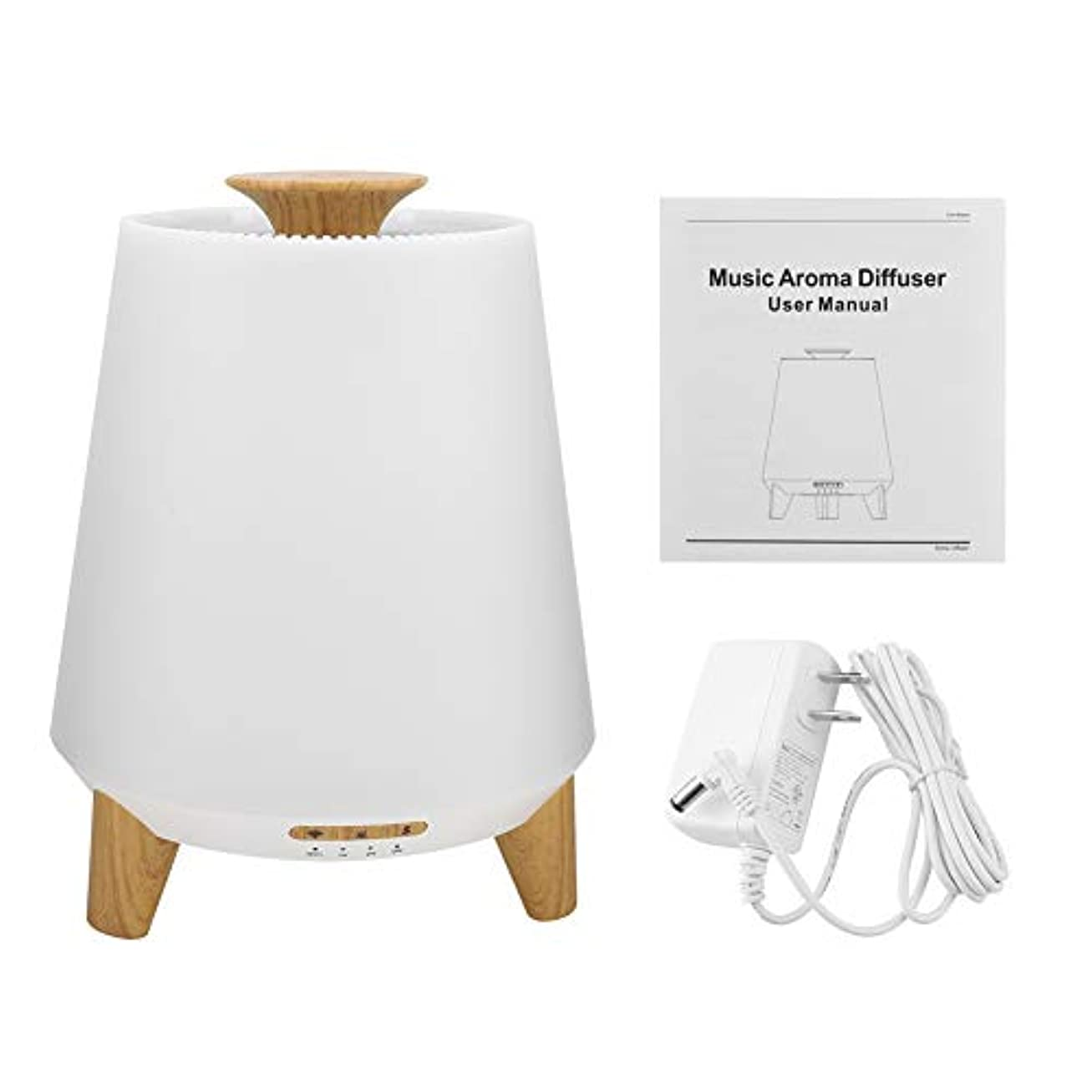冊子勤勉合併症加湿器 アロマディフューザー 音楽プレーヤー 3 in 1 7色LEDライト クールミスト WIFI スマート 超音波 アロマ エッセンシャルオイル 互換性用 300ml(#1)
