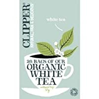 Clipper Teas - Organic White Tea Light & Elegant - 26 Bags (Case of 6)