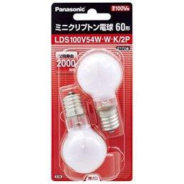 パナソニック ミニクリプトン電球 100V 60W形(54W) E17口金 ...