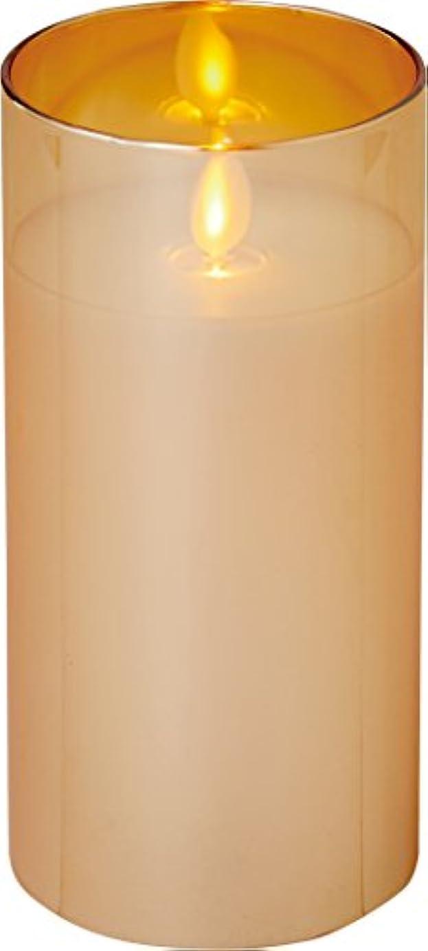 漂流汚染危険なillumine イルミネシャイングラス入りLEDキャンドルL ゴールド
