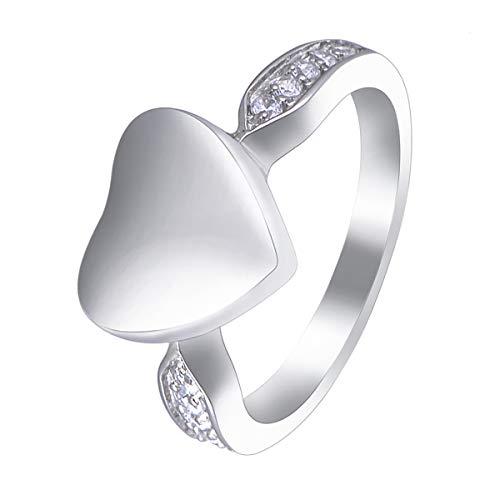 [HooAMI] 遺骨リング 遺骨指輪 メモリアルリング ハート 手元供養 遺灰 納骨 分骨 指輪 日本サイズ:21号(アメリカサイズ10号)