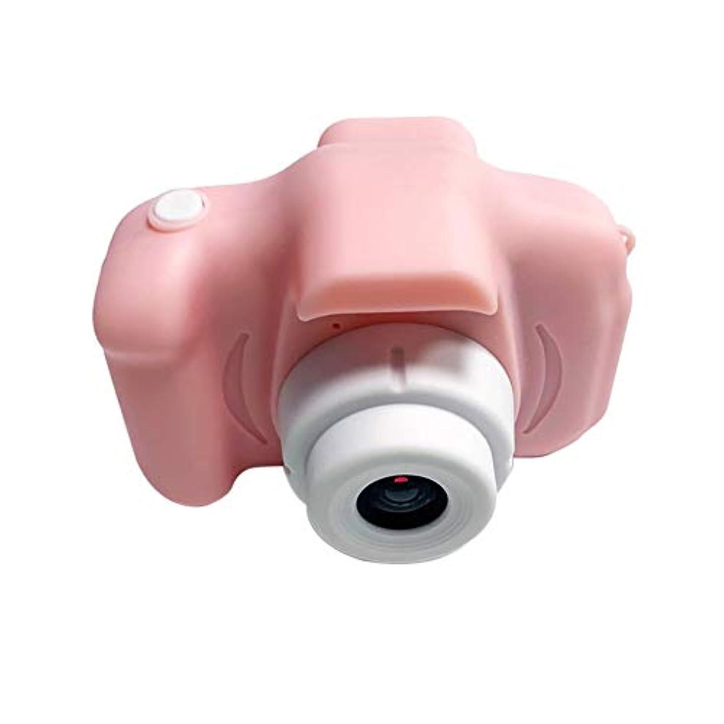 四分円テンポ把握HDバージョンポータブルチャイルドカメラミニSLRミニカメラチャイルドカメラかわいい女の子ギフト子供ミニカメラ-ピンク