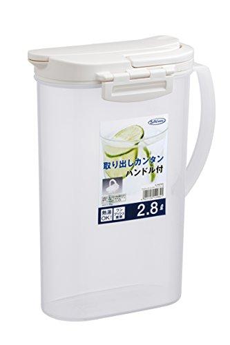 冷水筒 ピッチャー 大容量ハンディプッシュ 2.8L K-298NW(1コ入)