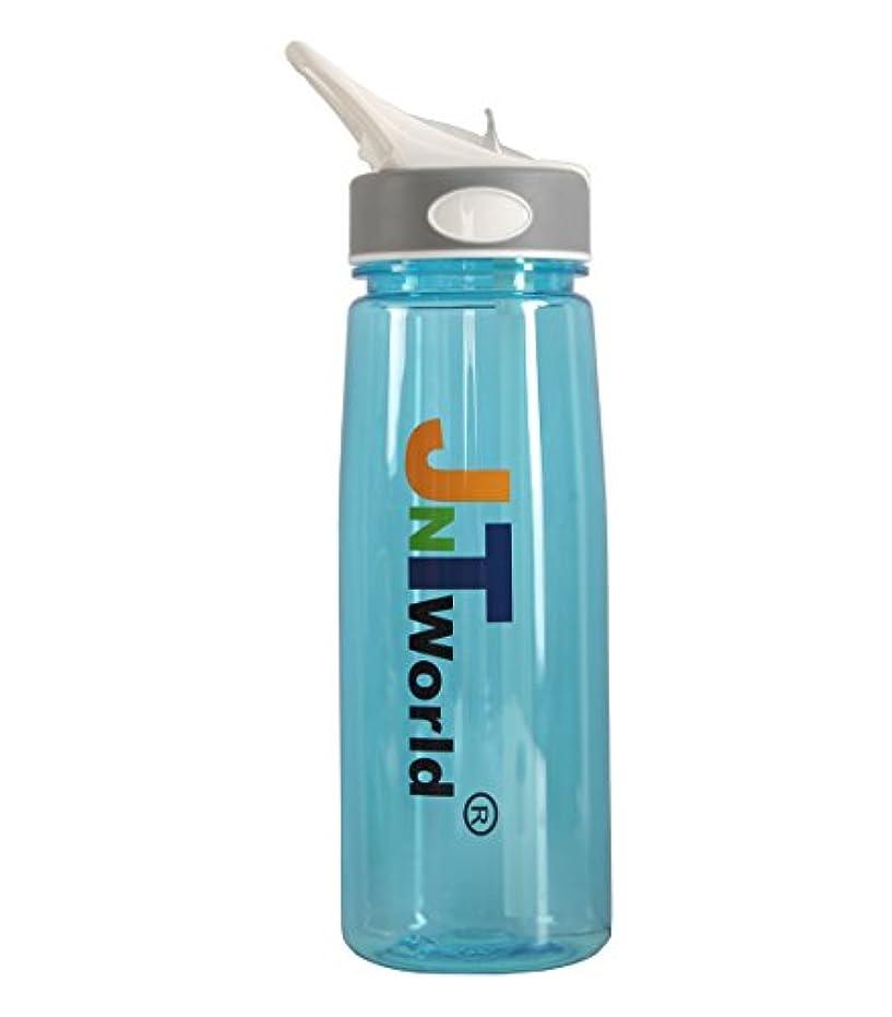 メディック入浴くまJNTworld ウォーターボトル ドリンクボトル 半透明 アウトドア 旅行やサラリーマンの最愛 健康安全無毒無味 防爆烈、耐圧、耐熱、使用便利!, ブルー