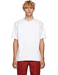 (アクネ ストゥディオズ) Acne Studios メンズ トップス Tシャツ White Navid Logo T-Shirt [並行輸入品]