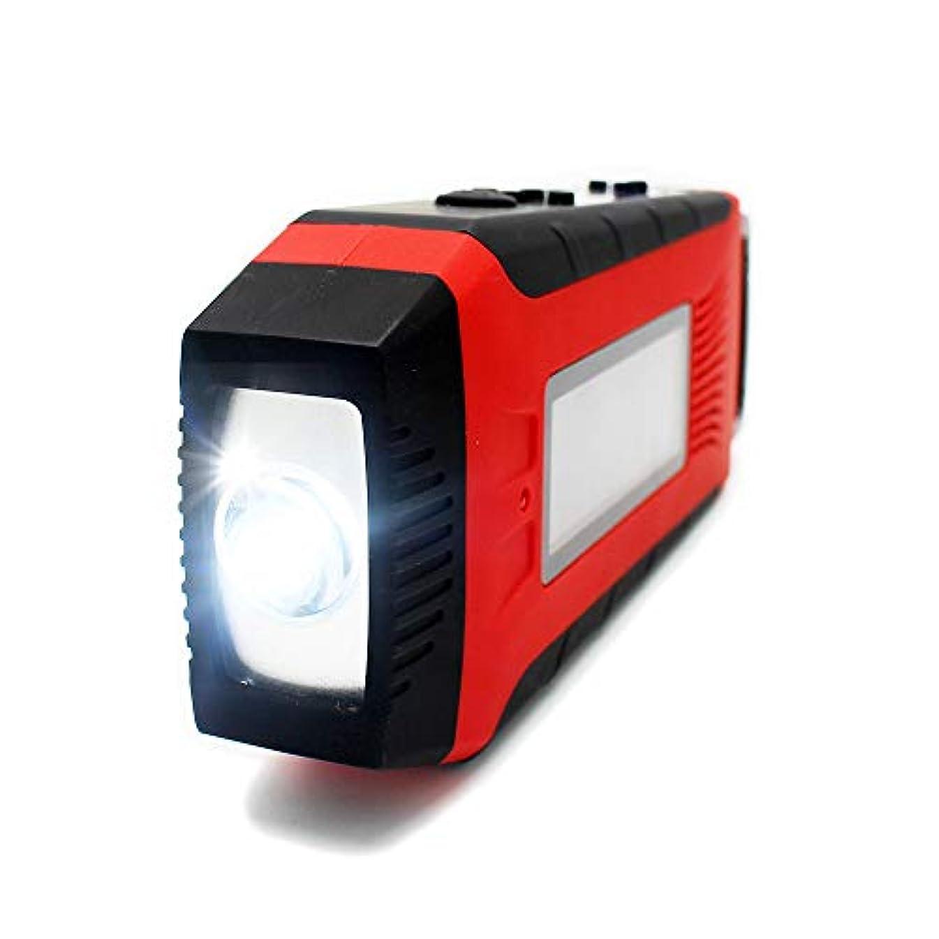また作りますフィヨルドBigFox LEDラジオライト 懐中電灯 防災ラジオ iPhone/Androidスマホ充電可能 手回し充電/太陽光充電/USB充電 FM/AM対応 非常用ライト 防災グッズ 高輝度 地震/停電/台風対策 防水