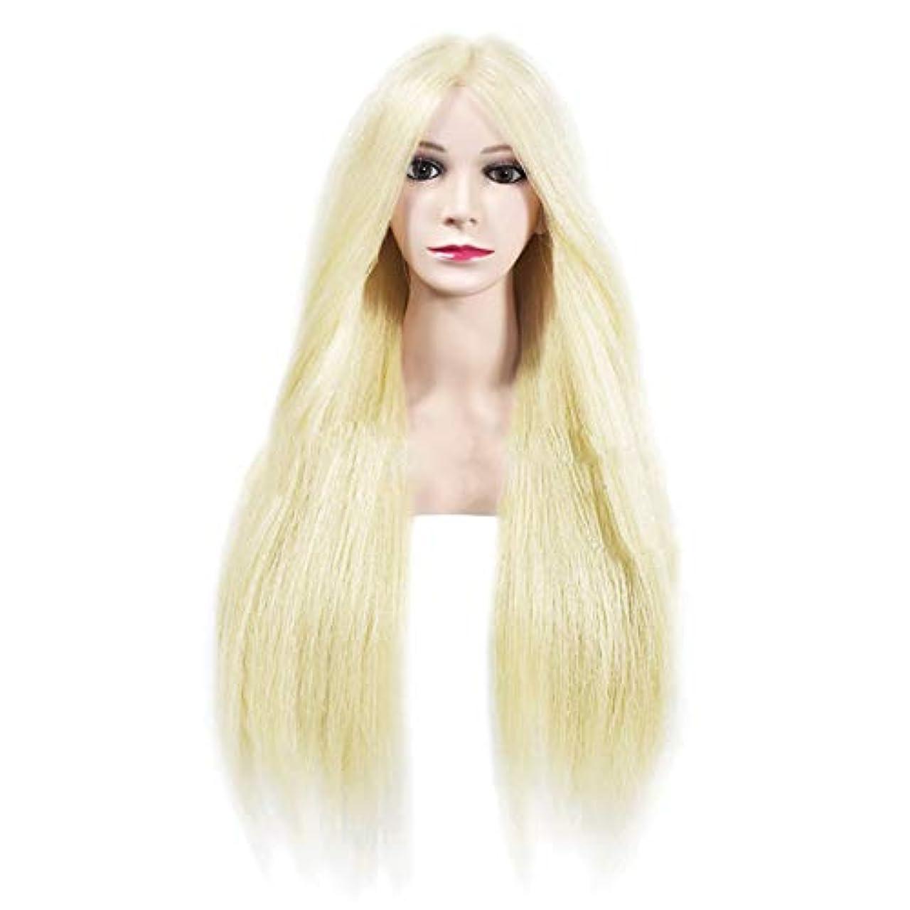 パンダバッグアニメーション専門の練習ホット染色漂白はさみモデリングマネキン髪編組髪かつら女性モデルティーチングヘッド