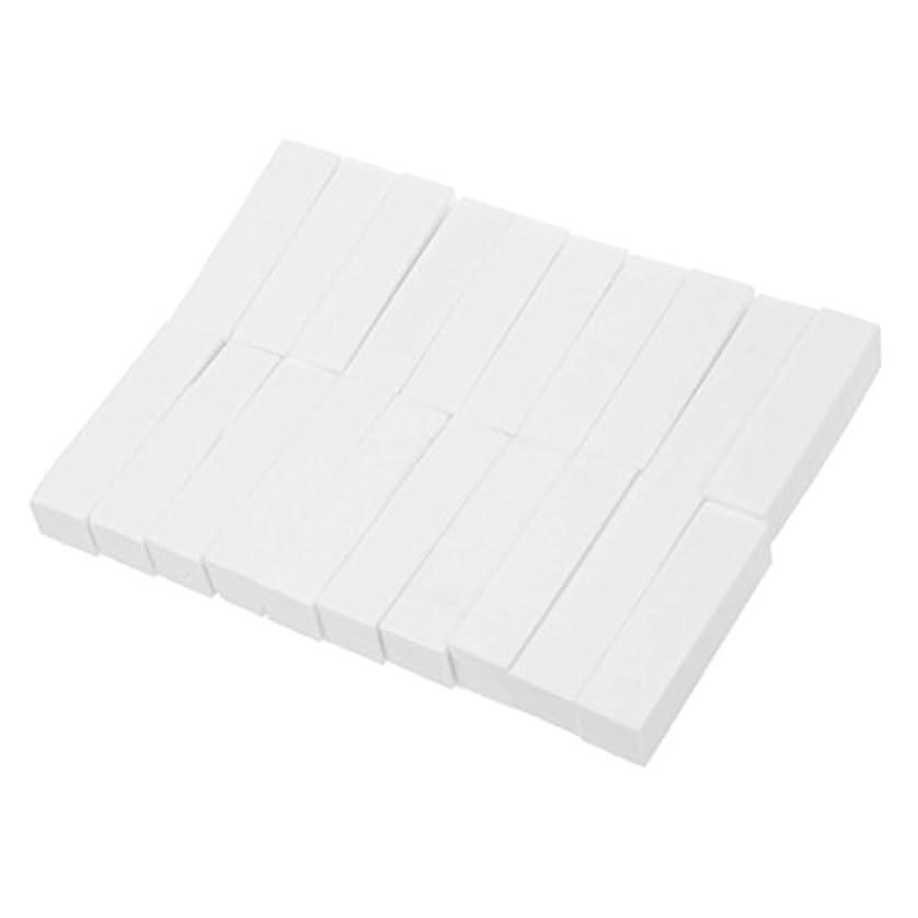コンプリート怪しい水っぽいRETYLY 20個 ホワイトバッファーバフサンディングファイル ブロックペディキュアマニキュア ネイルアートケアクリスマスギフト