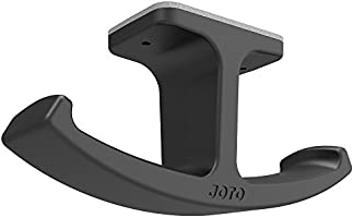 Headphone Stand Hanger, JOTO Silicone Under Desk Dual Headset Holder Mount Hook Hanger for Gaming Headphone Earphone -Black