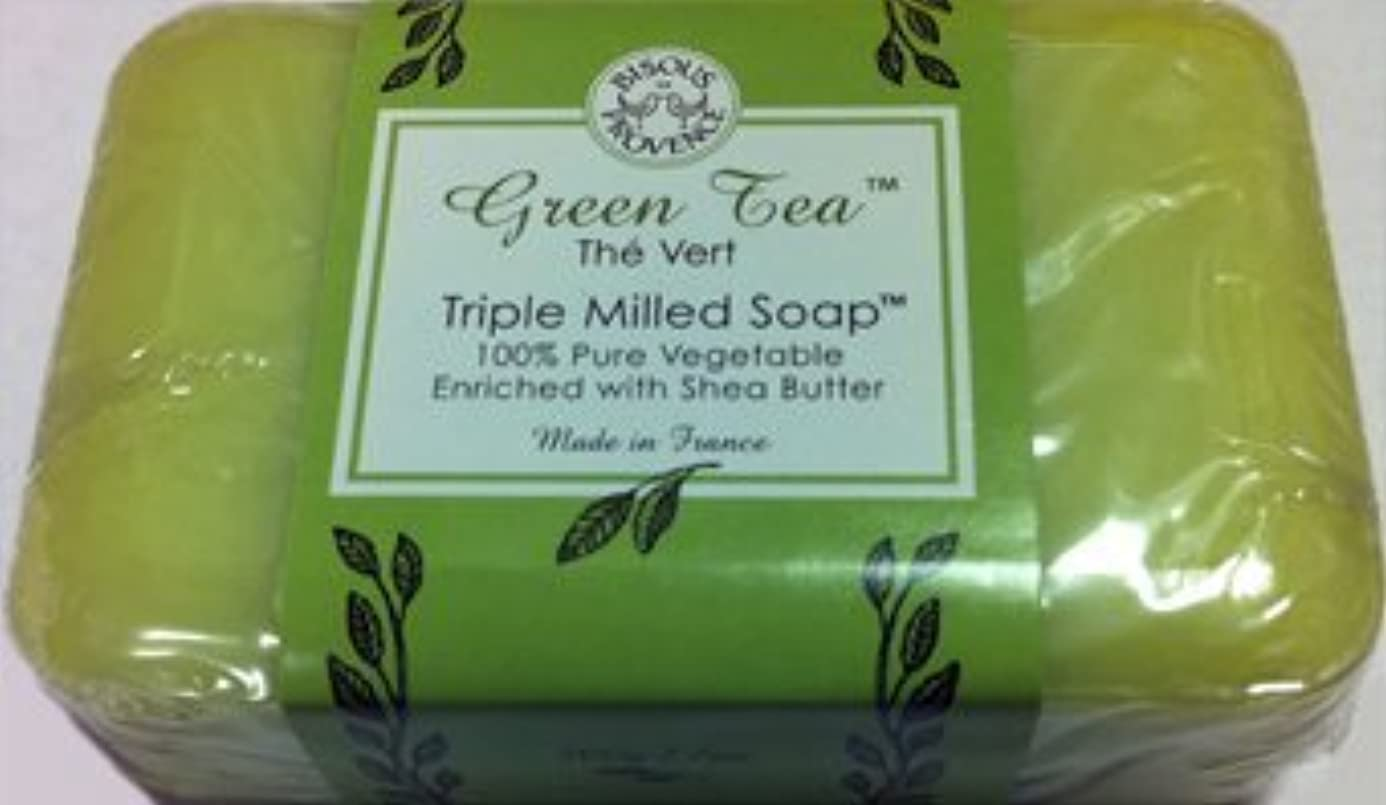 破産座る空港Green Tea The Vert Triple Milled Soap 100% Pure Vegetable Enriched with Shea Butter by Bisous Provence/Trader...