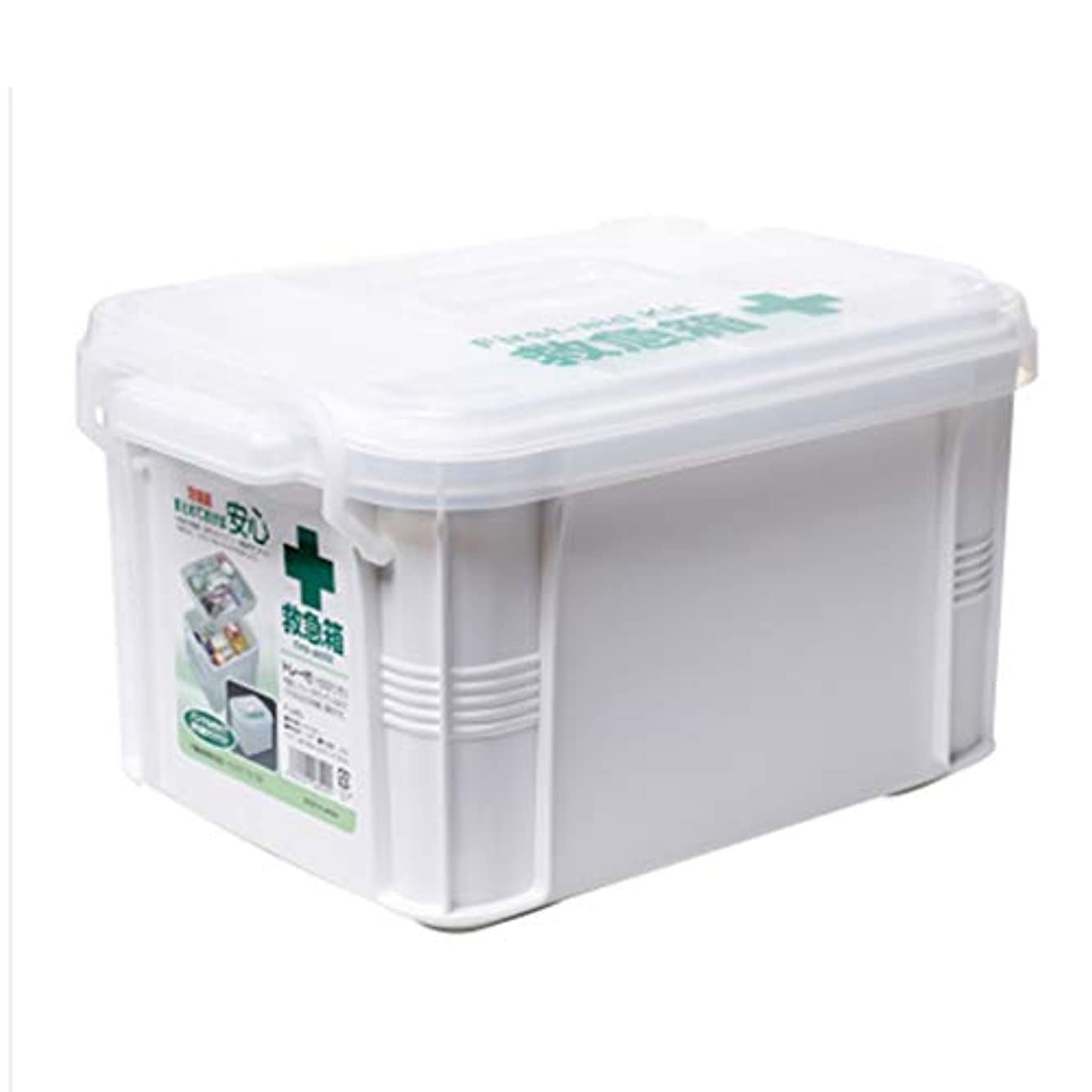 メロディーいくつかのによって緊急用バッグ 薬収納ボックス世帯薬品ボックス観光アウトドアポータブル救急箱二重層薬品箱/ 34 x 23.5 x 18.5 CM HMMSP