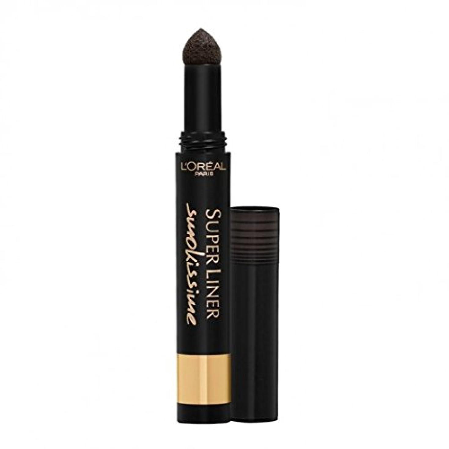 面倒収容する隣人3 x L'Oreal Paris Super Liner Smokissime Eye Liner Pen - 100 Black Smoke