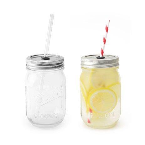 RoomClip商品情報 - レッドネック シッパー メイソンジャー グラス 2点セット  rednek sippers masonjar ストロー付きタンブラー