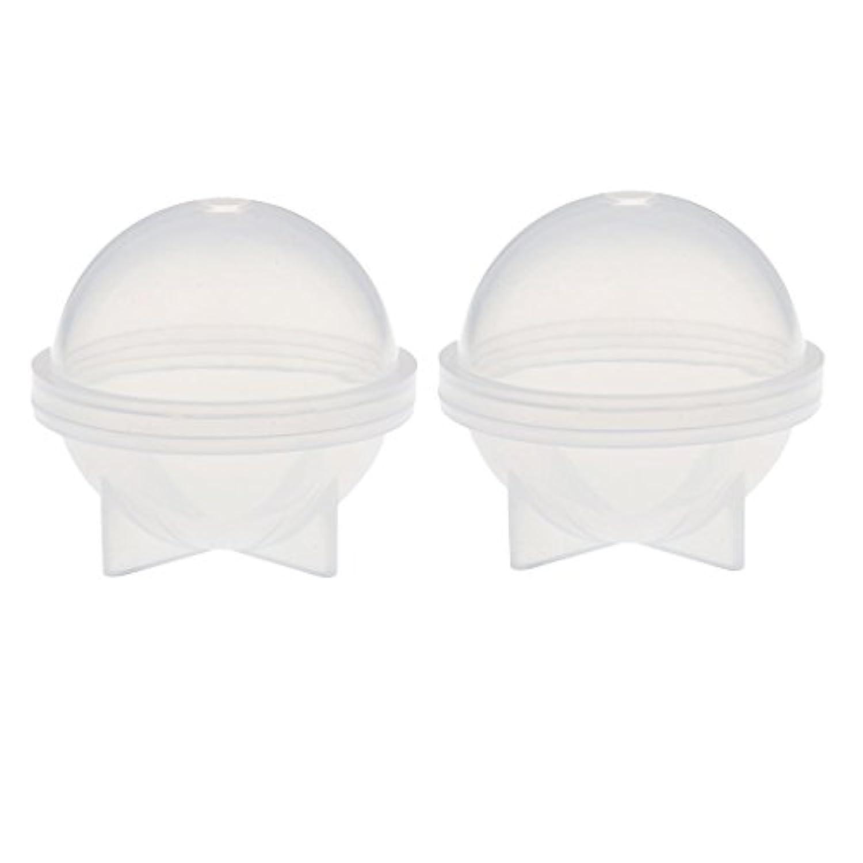 Homyl 球形 キャンドルモールド キャンドル 金型 石鹸金型 クリア ホビー用工具 耐久性