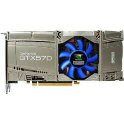 玄人志向 グラフィックボード GeForce GTX570 1280MB PCI-E DVI mini-HDMI 空冷ファン 2スロット占有 補助電源6pin×2 GF-GTX570-E1280HW/FJ GF-GTX570-E1280HW/FJ