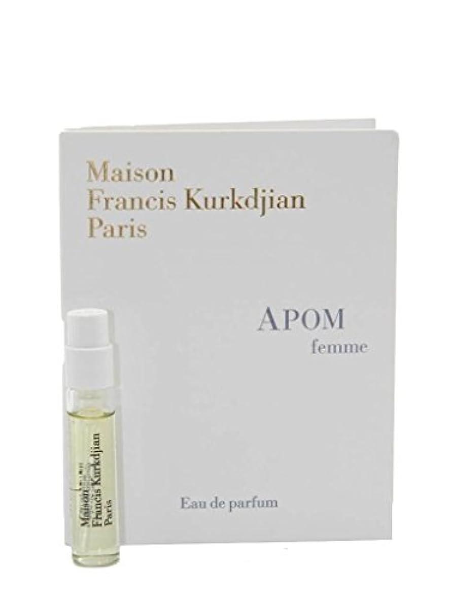 ナインへ幅見かけ上Maison Francis Kurkdjian Apom Femme EDP Vial Sample 2ml(メゾン フランシス クルジャン アポム ファム オードパルファン 2ml)[海外直送品] [並行輸入品]