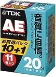 TDK オーディオカセットテープ AE 20分11巻パック [AE-20X11G]