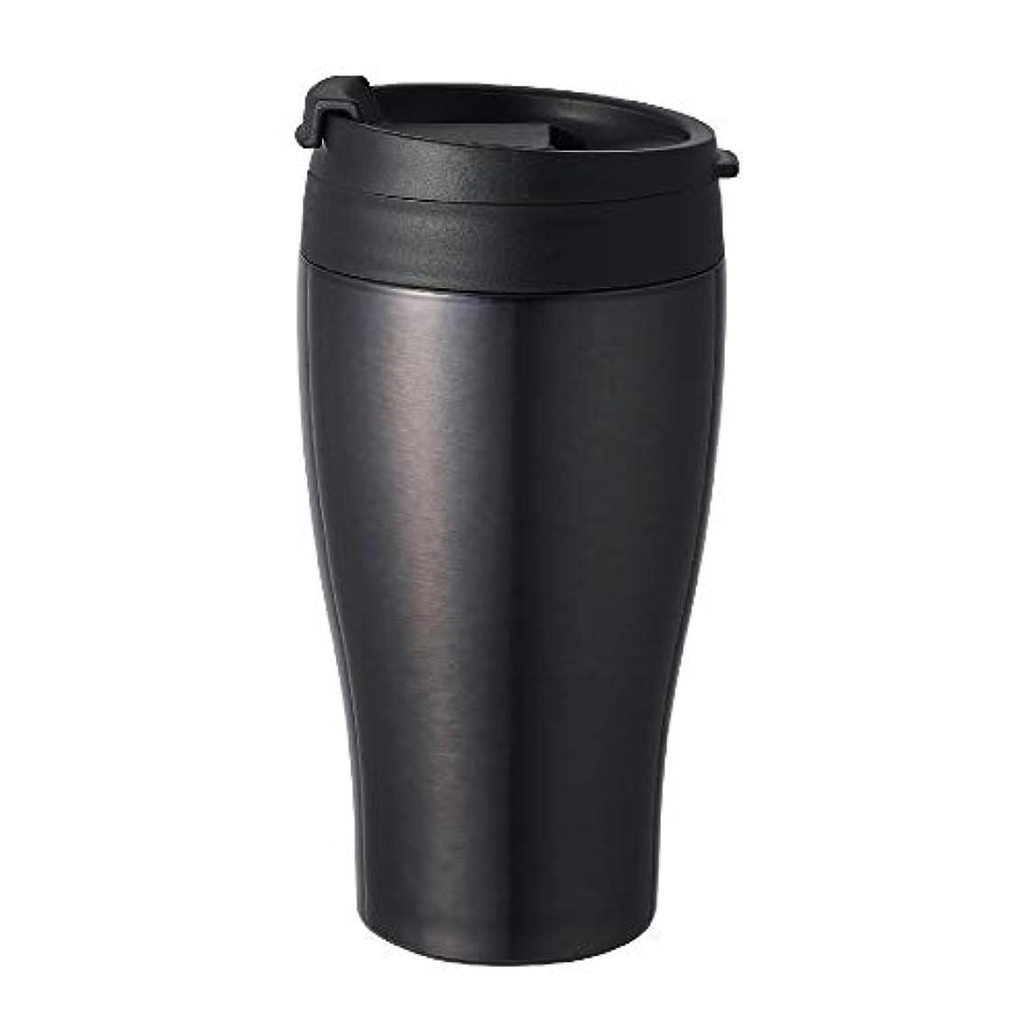 不十分な効率的にエスカレートドウシシャ タンブラー ふた付き コンビニマグ ダイレクトタイプ 真空断熱 直接ドリップ 0.36L ブラック CBCT400BK