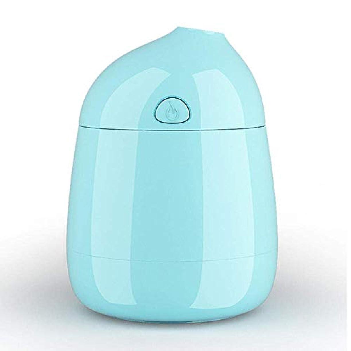 聴衆関与するメンダシティSOTCE アロマディフューザー加湿器超音波霧化技術満足のいく解決策美しい装飾湿潤環境思慮ギフト (Color : Blue)