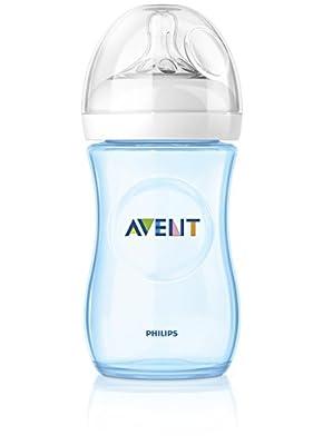 PHILIPS AVENT Natural Bottle 260ml 2 Pack, Blue