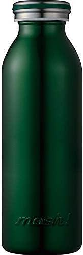 水筒 真空断熱 スクリュー式 マグ ボトル 0.45L ダークグリーン mosh! (モッシュ! ) DMMB450DG