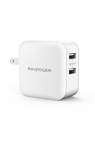 RAVPower USB 充電器 2ポート 24W 最大出力5V,4.8A/急速/折畳式プラグ iPhone/iPad/Android 等のUSB機器対応 RP-UC11 ホワイト