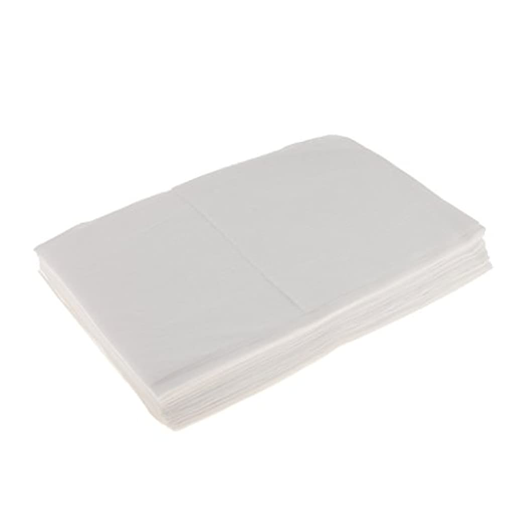 すべきうなる寺院Kesoto 10枚 使い捨てベッドシーツ 使い捨て 美容 マッサージ サロン ホテル ベッドパッド カバー シート 2色選べ - 白