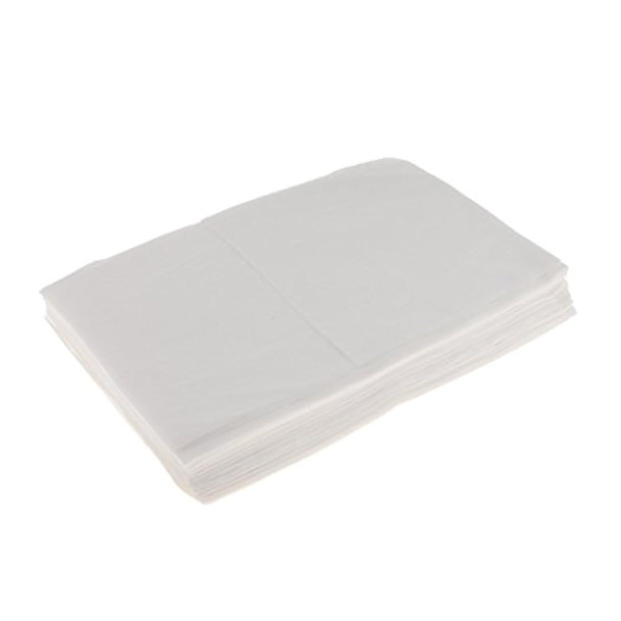 商品難破船定規Perfk 10枚 使い捨て ベッドシーツ 美容 マッサージ サロン ホテル ベッドパッド カバー シート 2色選べ - 白