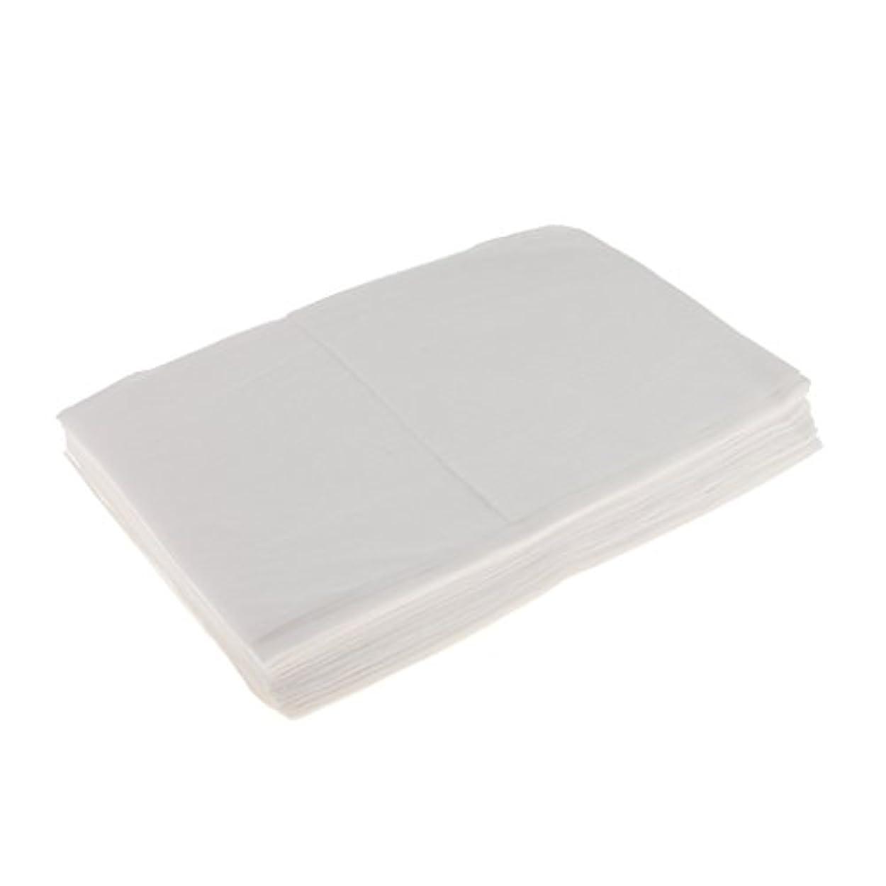 Kesoto 10枚 使い捨てベッドシーツ 使い捨て 美容 マッサージ サロン ホテル ベッドパッド カバー シート 2色選べ - 白